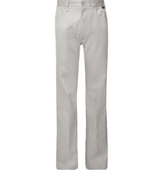 Balenciaga Light-Grey Wide-Leg Cotton-Twill Trousers