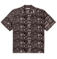 Flagstuff - Camp-Collar Printed Cotton Shirt