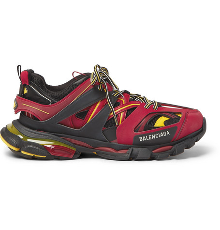 "Balenciaga Red, Black And Yellow "" Track"" Sneaker"