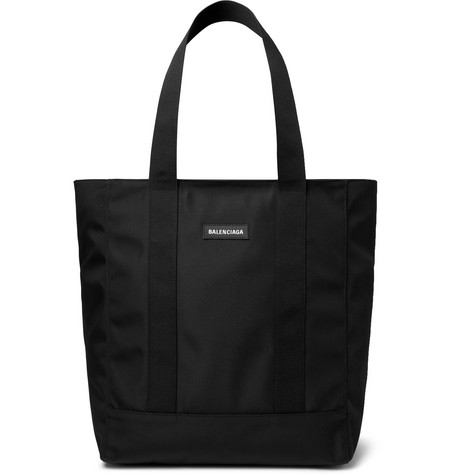 Logo Appliquéd Canvas Tote Bag by Balenciaga