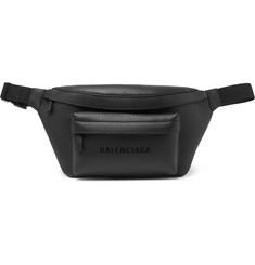 Balenciaga - Everyday Logo-Print Full-Grain Leather Belt Bag