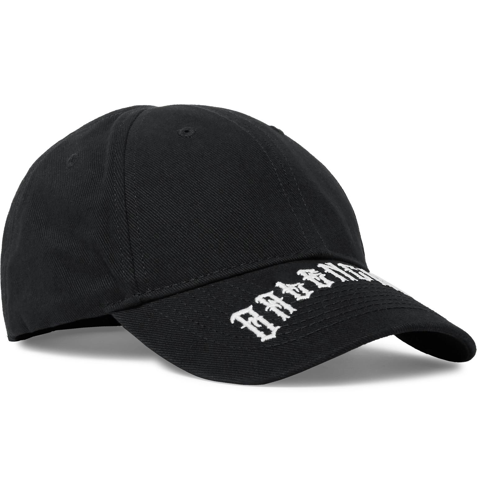da99b54f7108d Balenciaga - Logo-Embroidered Cotton-Twill Baseball Cap
