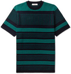 Mr P. Striped Knitted Cotton T-Shirt