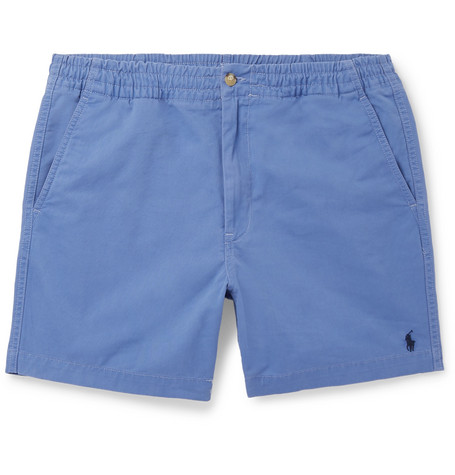 Washed Cotton Blend Twill Shorts by Polo Ralph Lauren