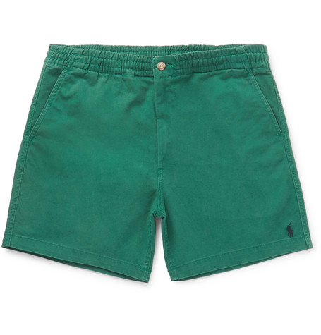 Cotton Blend Twill Chino Shorts by Polo Ralph Lauren