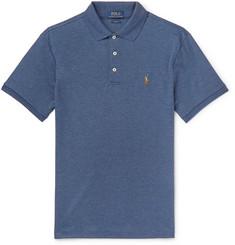aab6330831d13d Polo Ralph Lauren Slim-Fit Mélange Pima Cotton-Jersey Polo Shirt