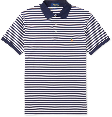 a42368ce Polo Ralph Lauren - Slim-Fit Striped Cotton-Jersey Polo Shirt