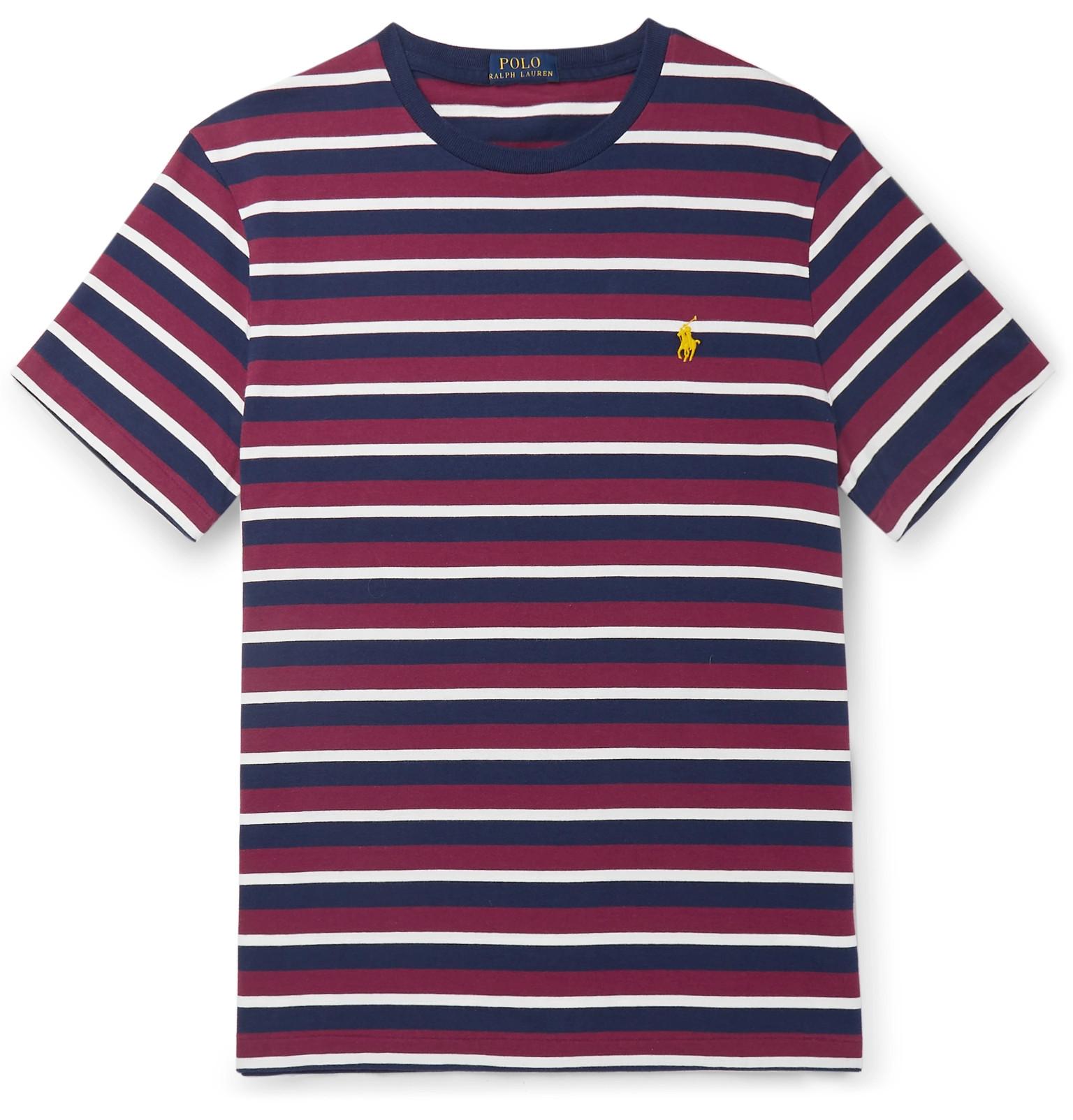 b6d37aa8f0 Polo Ralph Lauren - Slim-Fit Striped Cotton-Jersey T-Shirt