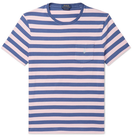 1c83467cb Polo Ralph Lauren - Slim-Fit Striped Cotton-Jersey T-Shirt