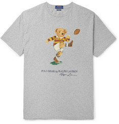 0d26ee31 Polo Ralph Lauren Printed Mélange Cotton-Jersey T-Shirt