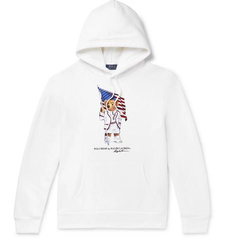 583b4a1109 Polo Ralph Lauren - Printed Fleece-Back Cotton-Blend Jersey Hoodie