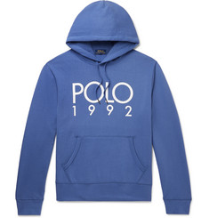 Polo Ralph Lauren Logo-Print Fleece-Back Cotton-Blend Jersey Hoodie