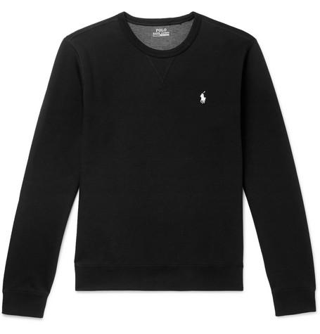 Polo Ralph Lauren – Logo-embroidered Jersey Sweatshirt – Black