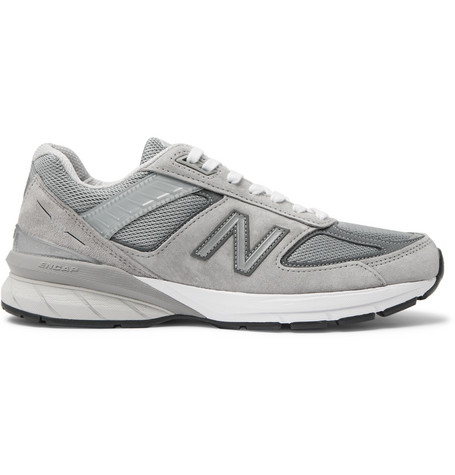 New Balance 990 V5 Suede and Mesh Sneakers