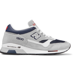 New Balance M1500 Suede, Leather and Mesh Sneakers