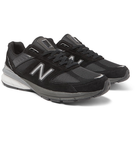 NEW BALANCE | New Balance - M990v5 Suede And Mesh Sneakers - Black | Goxip