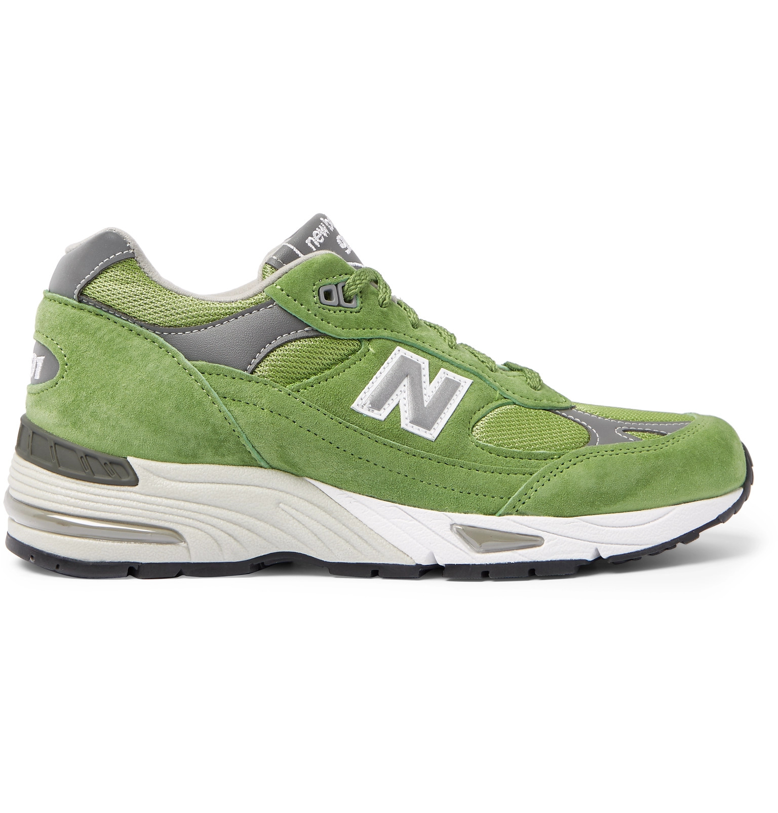 pas mal 897f8 066cd New Balance - 991 Suede, Mesh and Leather Sneakers