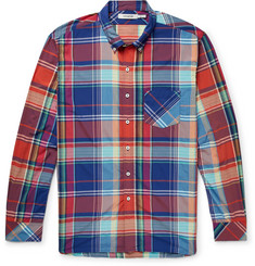 nonnative Dweller Button-Down Collar Checked Woven Shirt