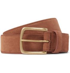 3.5cm Suede Belt - Brown