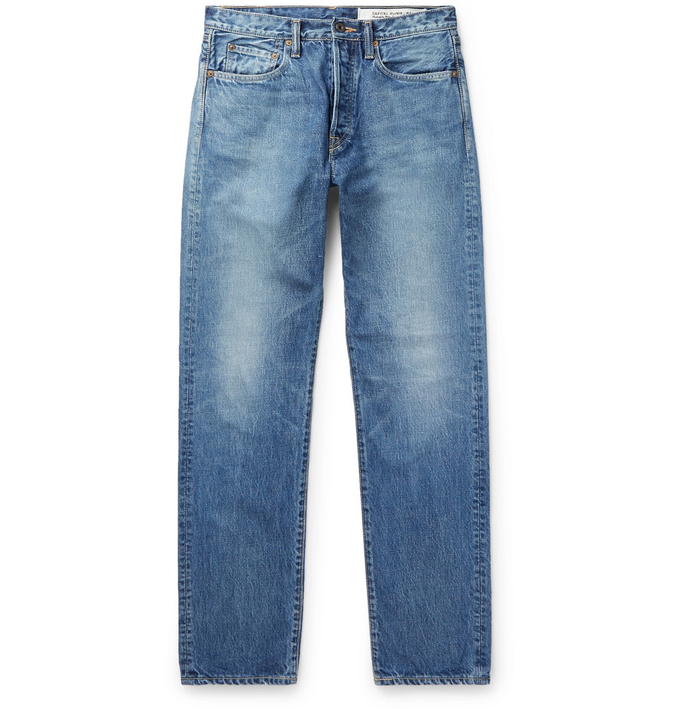 Monkey Cisco Distressed Denim Jeans - Blue