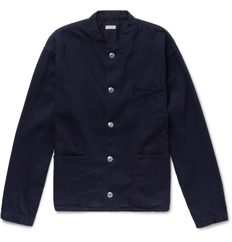 Cotton Bomber Jacket - Navy