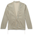 Striped Linen And Cotton Blend Jacket by Kapital