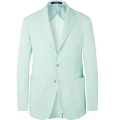 Polo Ralph Lauren Seafoam Slim-Fit Unstructured Stretch Lyocell, Linen and Cotton-Blend Blazer
