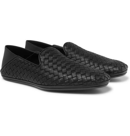 eaaad2e562a0 Bottega Veneta - Intrecciato Leather Collapsible-Heel Slippers