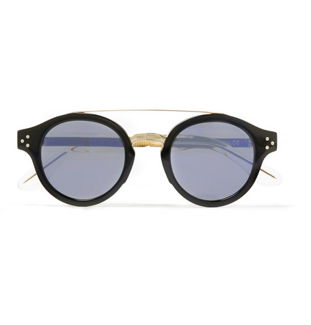 CUTLER AND GROSS | Cutler and Gross - Round-frame Gold-tone And Acetate Sunglasses - Black | Goxip
