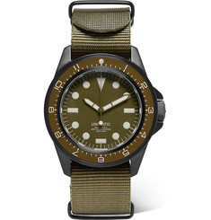 Unimatic - U1-DZN Automatic Brushed Stainless Steel and Webbing Watch