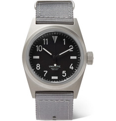 Unimatic - U2-B Field Stainless Steel and Webbing Watch