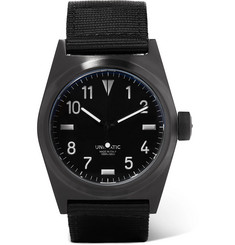 Unimatic U2-BN DLC-Coated Stainless Steel and Webbing Watch