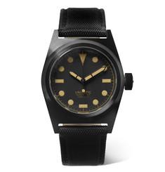 U2-cn Dlc-coated Stainless Steel And Cordura Watch - Black