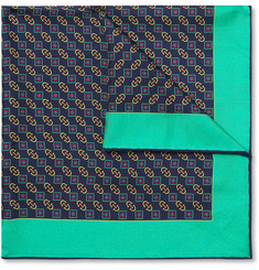Gucci - Logo-Print Silk Pocket Square