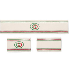Gucci - Logo-Detailed Cotton-Blend Headband and Wristbands Set