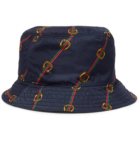 2418fd7a9 Gucci - Reversible Printed Shell Bucket Hat