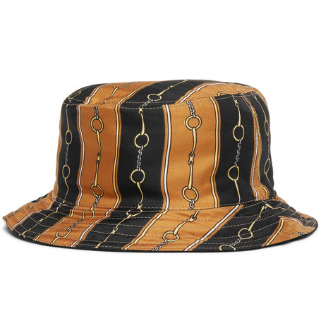 b3fd5846f01 Gucci – Reversible Velvet And Printed Twill Bucket Hat – Black