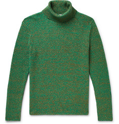 Gucci Slim-Fit Metallic Mélange Cotton-Blend Rollneck Sweater