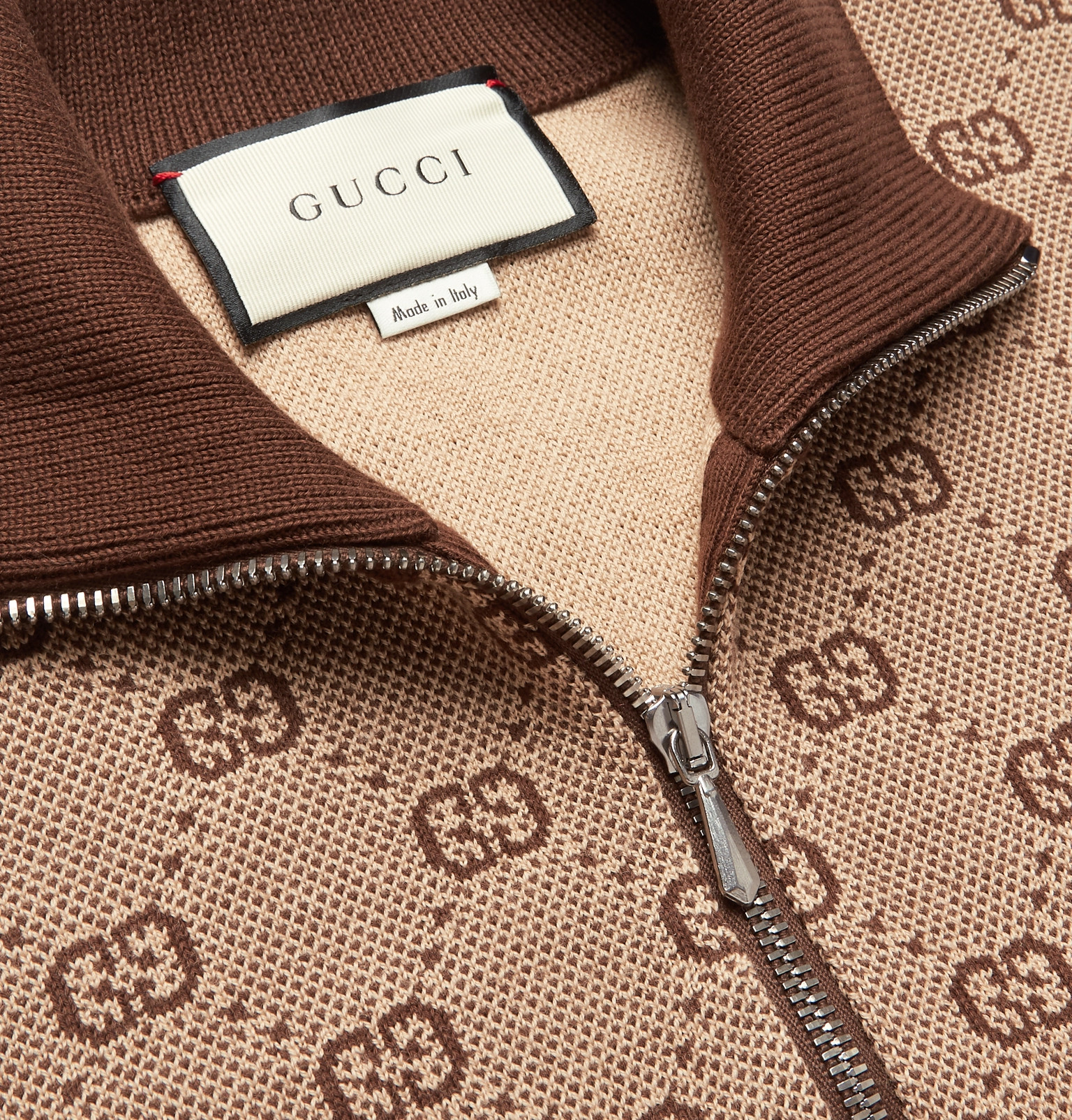 886f4fb88752 Gucci - Logo-Jacquard Wool and Cotton-Blend Track Jacket