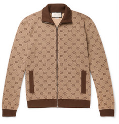 bfc86501146 Gucci Logo-Jacquard Wool and Cotton-Blend Track Jacket