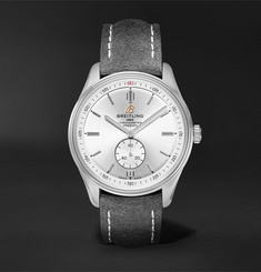 Breitling Premier Automatic 40mm Stainless Steel and Nubuck Watch, Ref. No. A37340351G1X1
