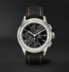 Breitling - Premier Chronograph 42mm Stainless Steel and Nubuck Watch, Ref. No. A13315351B1X1