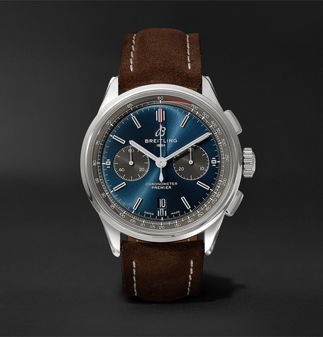 Breitling Premier B01 Chronograph 42mm Stainless Steel and Nubuck Watch, Ref. No. AB0118A61C1X1