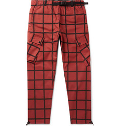 Nike + Patta Checked Stretch-Cotton Cargo Trousers