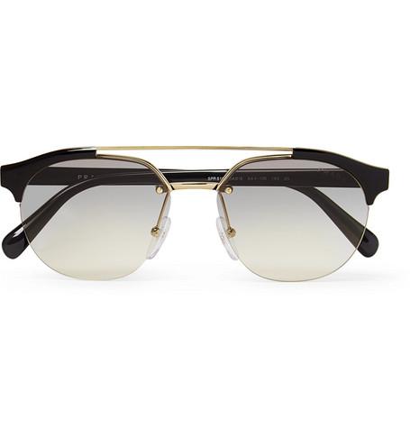 9016836a0dff Prada - Round-Frame Acetate and Gold-Tone Sunglasses