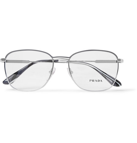 8a3bd806f5 Prada - Square-Frame Silver-Tone Optical Glasses