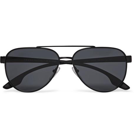 2d915b3834 Prada - Aviator-Style Metal and Acetate Polarised Sunglasses