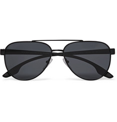 Prada Aviator-Style Metal and Acetate Polarised Sunglasses