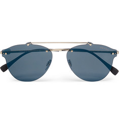 Prada Frameless Gold-Tone and Acetate Polarised Sunglasses