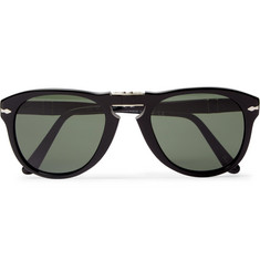 Persol 714 Folding D-Frame Acetate Sunglasses